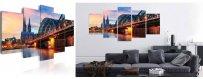 Sisustustaulut muista kaupungeista, erilaiset modernit kaupunki Sisustustaulut, Canvas printtitaulut. Ilmainen toimitus