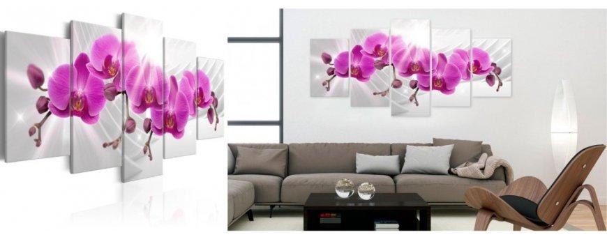 Sisustustaulut Orkidea kukista, erilaiset modernit ja klassiset Orkidea kukka Sisustustaulut, Canvas printtitaulut