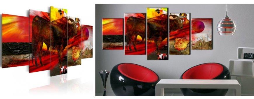 Sisustustaulut Sonneista, erilaiset härkäaiheiset Sisustustaulut, Canvas printtitaulut