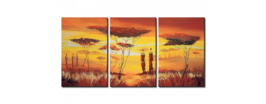 Kuvat ja maalaukset Arfrikasta, erilaiset ihmis- ja eläinaiheiset Afrikka Sisustustaulut, Canvas printtitaulut.  Ilmainen toimitus