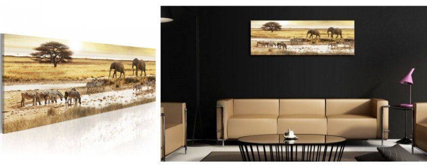 Kuvat ja maalaukset Arfrikasta, erilaiset eläinaiheiset Afrikka Sisustustaulut, Canvas printtitaulut. Ilmainen toimitus ja maksa Klarna laskulla