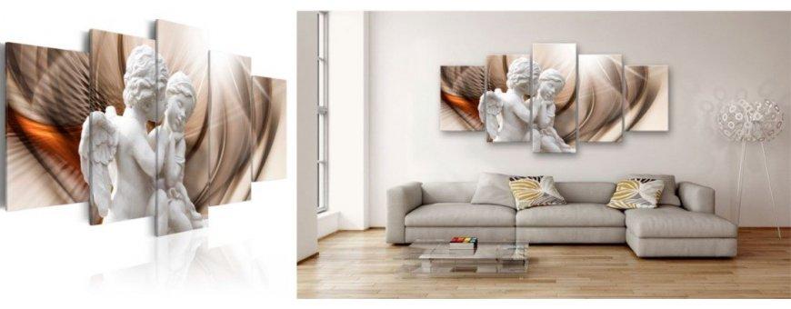 Abstraktit Kuviomerkit sisustustauluissa, abstraktit Kuviomerkki Sisustustaulu muodot, Canvas printtitaulut