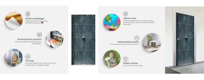 Fototapetti ovessa on uusi ja upea tapa sisustaa kotia! Muovisuutensa ansiosta se on kätevä asentaa