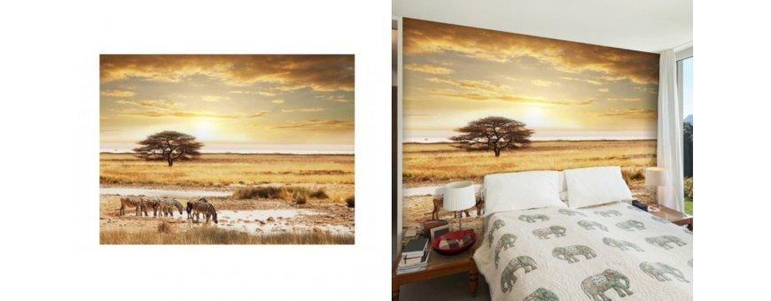 Afrikka maisema Fototapetit saat Sisustutaulut.net kaupastamme nopealla toimituksella. Tutustu eri maisemiin ja tilaa nyt! Ilmainen toimitus.