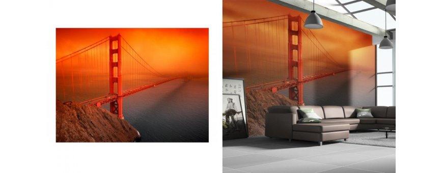 San Franciscon Fototapetit saat Sisustutaulut.net kaupastamme nopealla toimituksella. Tutustu  isoon Kaupunkiin ja tilaa nyt! Ilmainen toimitus.