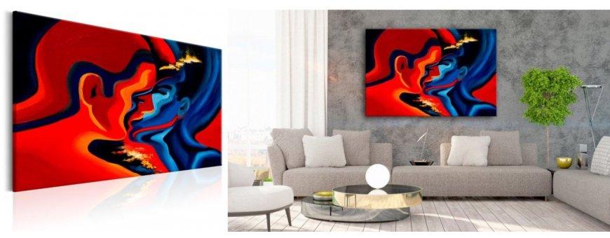 Abstraktit Rakkauden aiheet sisustustauluissa, erilaiset rakkauden Sisustustaulu muodot, Canvas printtitaulu
