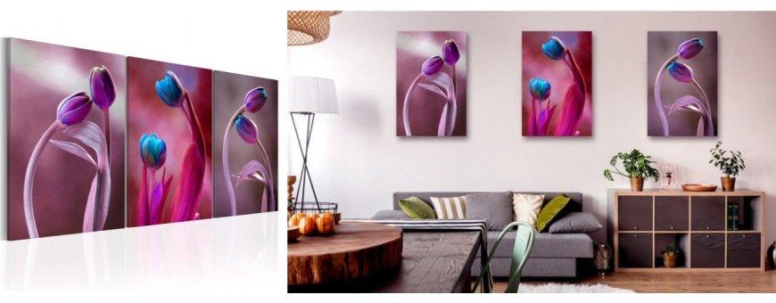 Sisustustaulut Tulppaaneista, erilaiset modernit ja klassiset Tulppaanin kukka Sisustustaulut, Canvas printtitaulut.