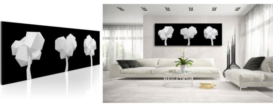 Abstraktit aiheet Mustavalkoisena sisustustauluissa, erilaiset Black&White Sisustustaulu muodot, Canvas printtitaulu