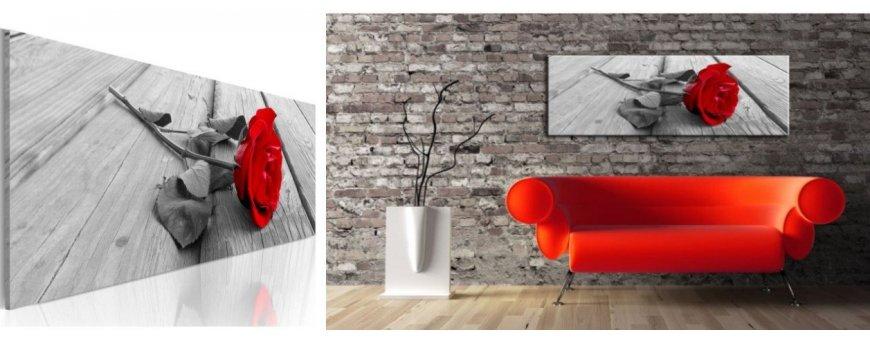 Sisustustaulut Ruusuista, erilaiset modernit ja klassiset Ruusun kukka Sisustustaulut, Canvas printtitaulut
