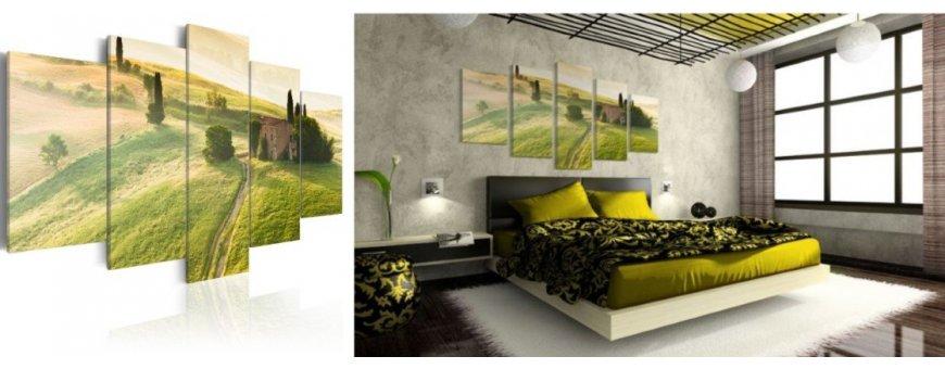 Toscana aiheiset sisustustaulut, erilaiset ja romanttinen Toscana Sisustustaulu - Canvas printtitaulut