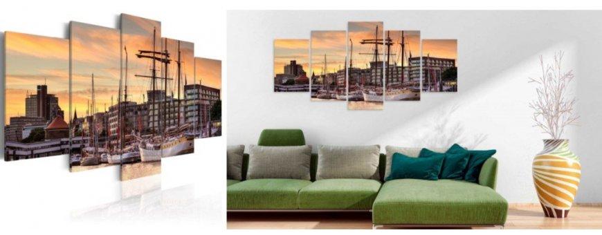 Sisustustaulut Hampurista, erilaiset modernit Hamburg Sisustustaulut, Canvas printtitaulut. Ilmainen toimitus ja maksa Klarna laskulla