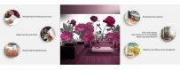 Itseliimautuvat fototapetit, kukat